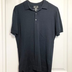 H&M Navy Blue Polo Collared T-Shirt Small
